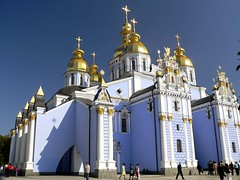 mihailovski monastir (Todor Kamenov 石拓) Tags: blue church beautiful ukraine monastery kiev kyiv