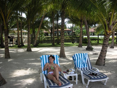 Playa privada en el Alona Palm Beach Resort