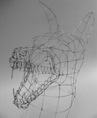 snarlingmaskframe (polyscene) Tags: sculpture art 3d wire mask frame polly poly wireframe verity wiresculpture wireart polyscene pollyverity