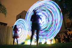 TMWDPE (sgoralnick) Tags: party lights backyard photographers bbq spinning gothamist stories hulahoop swirlgirls themostwelldocumentedpartyever