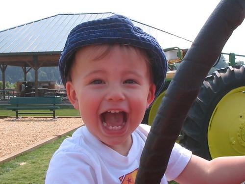 Boy Loves Tractor