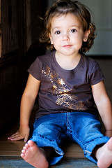 sit and wait (sesame ellis) Tags: girl toddler bored mykid jeans year2 frontdoor newshirt