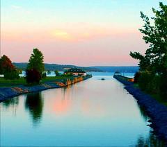 Owasco Lake (Lida Rose) Tags: sunset lake evening boat upstatenewyork newyorkstate fingerlakes lidarose auburnny emersonpark lidaperfetto abigfave owascolake interestingess19