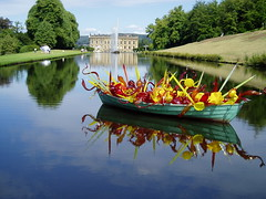 'The Boat' (_molly_) Tags: blue sculpture chihuly water garden derbyshire explore statelyhome chatsworth englishcountrygarden welldoneyou