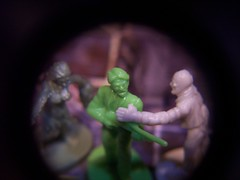 Zombies & Character Closeup (Trachalio) Tags: macro zombie boardgame zombies boardgames eyeloupe