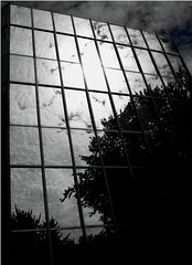 Reflections (jannie lumiere) Tags: reflection clouds highrise bochum multistory hochhaus glasfassade