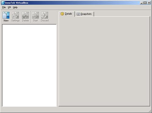 VirtualBox - virtualMachine - openSUSE10.2 - openSUSE10.2 - finestra iniziale