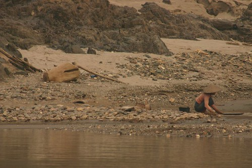 Digging for gold along the Mekong River...