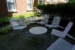 Patio Chairs (Matt0513) Tags: new york summer white table fuji chairs institute patio shade institution chautauqua xe1
