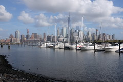 NYC skyline (amee@work) Tags: new york city nyc skyline boats nj newport docked pavonia