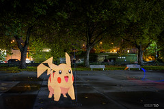 A Wild Pikachu Appears! (Taomeister) Tags: seattle lightpainting meetup georgetown pikachu seattleflickrmeetup seattleflickr pixelstick bv1510