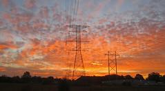 Fall sunrise and power lines (carpingdiem) Tags: fall sunrise indianapolis