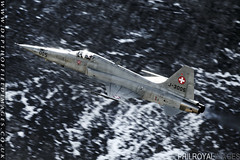 Swiss Air Force F5 Tiger (zoomerphil) Tags: mountains alps shoot fighter force swiss air tiger attack formation strike range f5 firing meiringen axalp ebenfluh