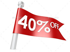 Off 40 percent (Misc) (hypesol) Tags: red public sign promotion retail mall shopping way advertising poster design marketing store big promo discount commerce market action sale flag banner cost competition save off special cash offer warehouse business saving showcase selling economy increase forty buying percent percentage advertise selloff