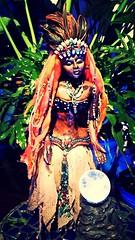 Carribean Voodoo Queen Doll (norbertchi) Tags: ceramic doll mosaic goddess bead crustacean voodoo