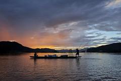 two fisherman (SaravutWhanset) Tags: travel sunlight fish river asian thailand fishing fisherman asia thai twillight