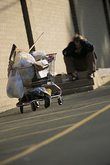 42-15559882 (Donna and Ed Edwards) Tags: poverty people loneliness shoppingcart vehicle cart desolate homelessness economicissues socialissues homelesspeople poorpeople