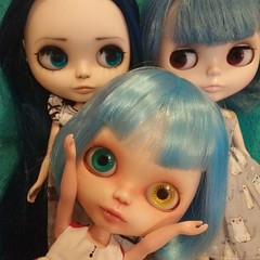 Leo thought we were having a blue haired girl party without her or something.