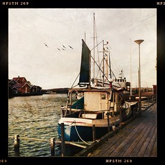 Fishing Boats... (iEagle2) Tags: autumn boat sweden fishingboat iphone grundsund swedishwestcoast iphone4 hipstamatic