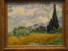 Wheat Field with Cypresses (1889) Van Gogh (OttawaRocks) Tags: art field painting wheat cypresses vangogh themet