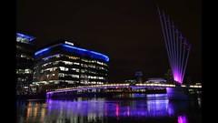 Salford Quays (Ginzal) Tags: uk england night manchester lights salfordquays bbc mediacity