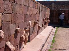 Carved Stone heads Embedded in Wall of Semi-subterranean Temple - #Tiwanaku ( #Tiahuanaco or #Tiahuanacu) Pre-Columbian Ruins, Tiwanaku Municipality, Ingavi Province, La Paz Department, #Bolivia (Black Diamond Images) Tags: southamerica temple ruins outdoor ruin bolivia unescoworldheritagesite walls américadosul tiwanaku tiahuanaco amériquedusud tiahuanacu zuidamerika sudamérica kalasasaya semisubterraneantemple lapazdepartment precolumbianruins tiwanakumunicipality ingaviprovince templekalasasaya