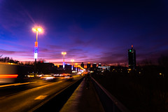 Right after sunset on Brankov Most (mucahits) Tags: београд brankov мост bridge belgrade beograde night road