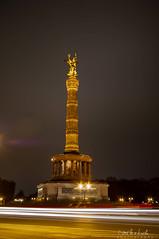 Siegessäule bei Nacht (Sascha Behr) Tags: siegessäule victorycolumn column säule gold night nacht berlin deutschland germany