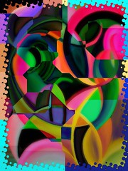 """"""" Happy New Year 2017 """" (ColFineArtistMar1) Tags: 2017 happynewyear art artistic manipulation creativity colors spectrum modern contemporary design abstract"""