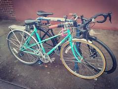 SWEET small baby blue mixte Miyata! Touring frame, maybe a 210?  #tinybike #mixte #touringbike #miyata (urbanadventureleaguepdx) Tags: miyata touringbike mixte tinybike