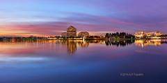 Dusk in Foster City (KP Tripathi (kps-photo.com)) Tags: fostercity dusk sunset lagoon landscape california bayarea sanfrancisco clouds pink bluehour