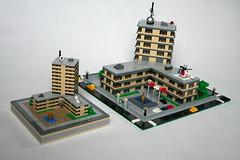 LEGO Hospital micro (xtitus) Tags: lego micro architecture scale