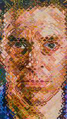 chuck close (pbo31) Tags: sanfrancisco california nikon d810 color december 2016 boury pbo31 bayarea sanfranciscomuseumofmodernart sfmoma soma city art contemporary modern extention face gallery orange spectrum