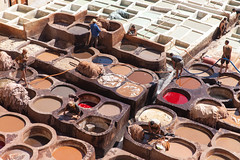 Chouara Tannery (Zlatko Unger) Tags: fez fes morocco fès medina tour el bali feselbali tannery tannerie leather smell