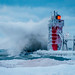 Winter Watch (Paladin27) Tags: lighthouse southhaven south haven winter ice snow weather waves wave storm clouds dusk pier michigan westmichigan puremichigan