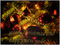 merry christmas (Klaus Lechten) Tags: merrychristmas froheweihnachten weihnachten merrychristmasandahappynewyear christbaum christbaumkugeln lights tannenbaum