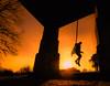 Alerte au Village (ThibaultPoriel) Tags: sunset village jump sun sunrise people adventure exploration lights olympus silhouette