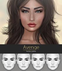 Freckles Palette for you... ([Avenge]) Tags: avenge avengeappliers makeover freckles slfreckles lelutkaapplier catwaapplier akerukaapplier