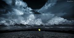 chatla (animeshchanda) Tags: landscape assam india watercsape nature monochrome boat river clouds sky
