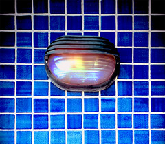 Safety light (chrisk8800) Tags: light safety tiles squares lines geometric texture pattern barcelona