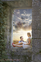 Love (livininfrostytown) Tags: polcenigo italy castle couple marrage love sweetmoments window no class rock wall sunset clouds sky charmedimpressions