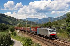 Railpool 186 290 in Albeins (TheKnaeggebrot) Tags: railpool lokomotion rtc rail traction company klv tec winner spedition albeins albes brixen 186 traxx bombardier 186290