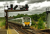 Thameslink Class 700 3-rail EMU No. 700 110 approaches Gatwick Station on 3 Aug 2016 (Trains and trams eveywhere) Tags: britishrailclass700 thameslink emu gatwick signals aspect trains suburban electric railways railroad train passengertrain suburbanrailway 3rail