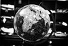 Earth Globe in Black and White (WhiteShipDesign) Tags: globe earth world global map planet sphere geography international continent web astronomy shape background cartography surface image connect business blackandwhite