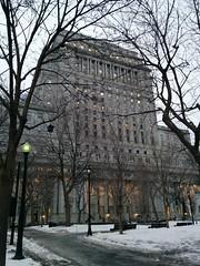 Sun Life Building, Montréal (randyfmcdonald) Tags: montreal montréal sunlifebuilding dorchestersquare winter