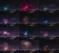 WOSP 2017 cropped (Sakuto) Tags: fireworks light night city poznan wosp landscape tower blue colors outdoor colorful poland sky highres