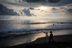 Surf Photographer in Bali (pictcorrect) Tags: bali island echo beach canggu surfers surfing sunset wide angle