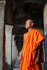 Monk at Angkor Wat, Angkor, Cambodia 3 (Alex_Saurel) Tags: buddhist clothes ancient monk bassin orientation photospecs architecture fullframe bouddhisme imagetype fullbody moine portrait garden religion pleinformat portray cambodge stockcategories photoreportage people buddhism archicategory kesa weather reportage man photojournalism portraiture traditional style planpied photoreport vertical nature scans adult time tradition type religieux pond asia temple culture day sunset planitalien travel detail sony50mmf14sal50f14