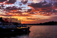DSC08551 (DarioG_) Tags: sunset tramonto mare sea harbor port porto sky colors boats barche brindisi puglia apulia italy sony nex clouds nuvole