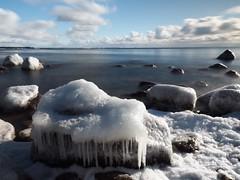 Icescapes (Jarno Nurminen) Tags: shoreline seascape longexposure finland porvoo emäsalo sky winter sea rocks ice